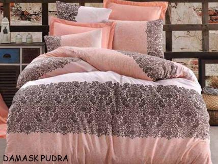 BELLA HOME RANFORCE DAMASK PUDRA ÇİFT KİŞ. DÖRT MEV. SET